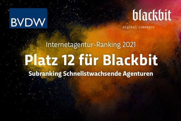 Blackbit belegt Platz 12 im BVDW-Ranking der schnellstwachsenden Agenturen