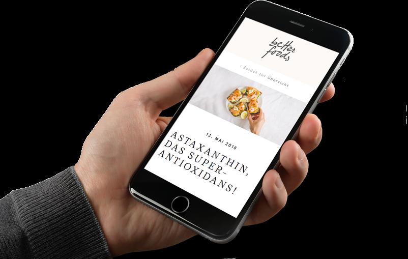 mobile-optimierte Better Foods Website