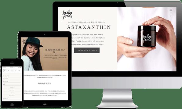 Die Pimcore Website von Better Foods lässt sich flexibel erweitern