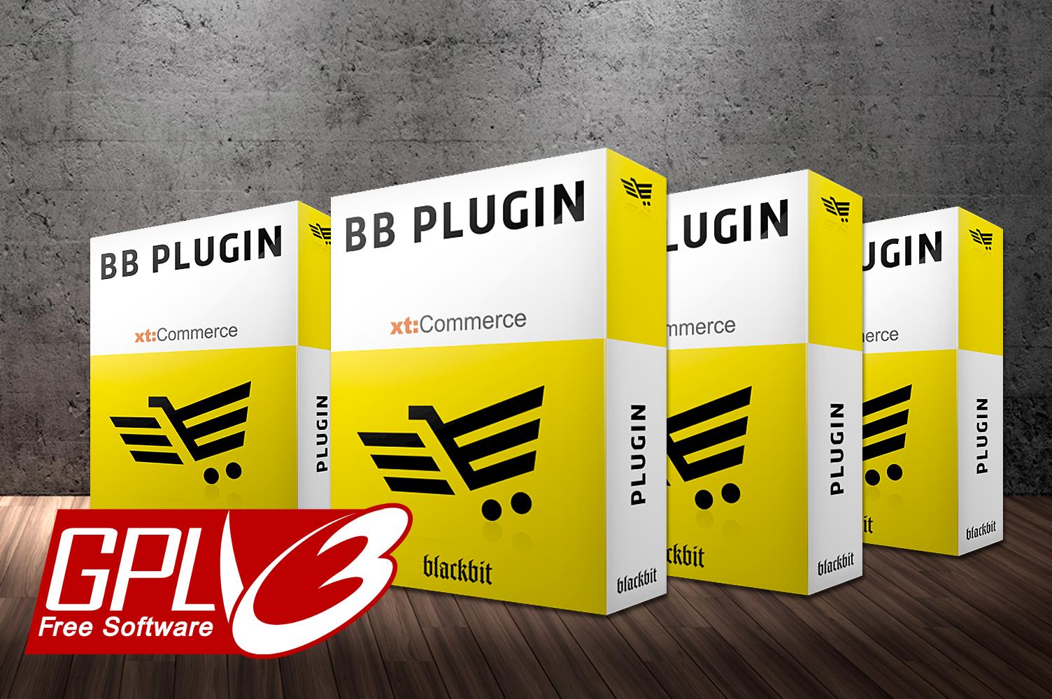 xt:Commerce Plugins mit GPLv3 Lizenz von Blackbit